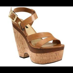 Rachel Zoe Leather Wedge Platform Brown Size:10.5